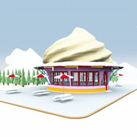 Frosty's North Pole Ice Cream Stand