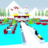 North Pole Open Air Bowling Alley
