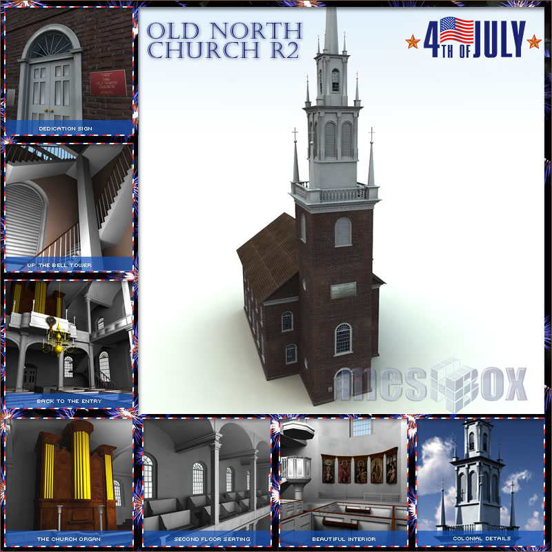 Boston Old North Church 3D