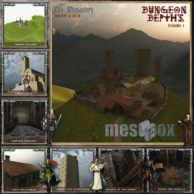 Dungeon Depths: The Monastery 3D