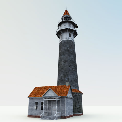 Haunted Lighthouse with New England Textures