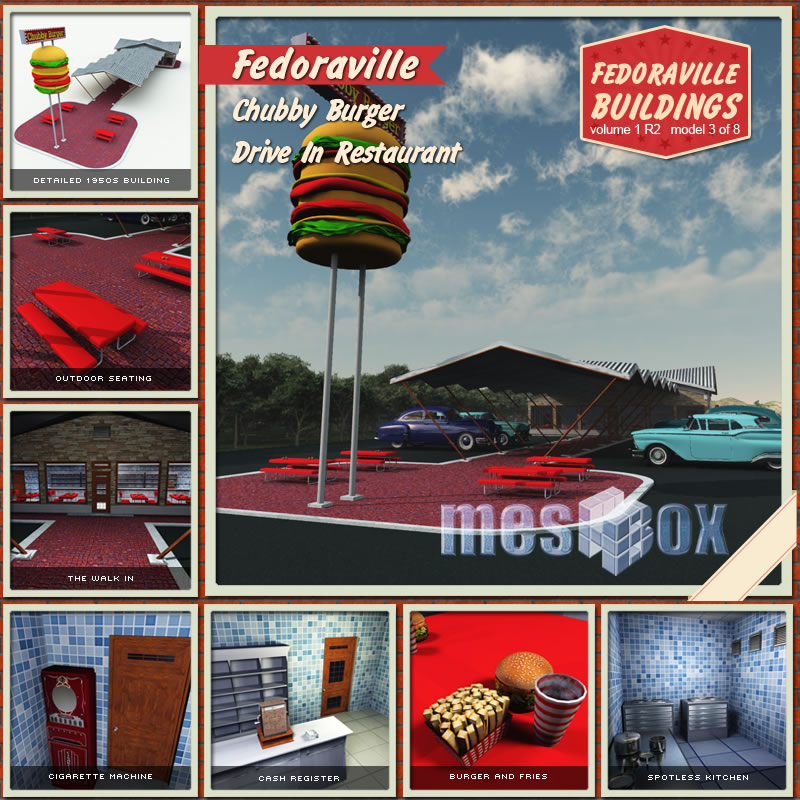 Fedoraville 1950s Drive In Restaurant