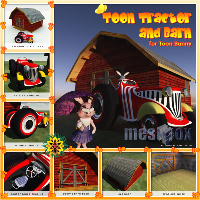 Toon Tractor and Barn