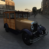 1929 Model 150-A Woodie Station Wagon