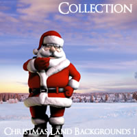 Christmas Land Backgrounds Volume 1