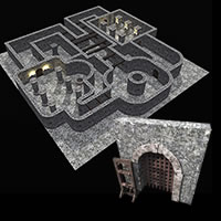 Dungeon Halls, Walls and Doors