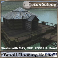 Small Floating House, River Town