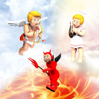 Toon Cupid Bundle - Cupid | Angel | Devil