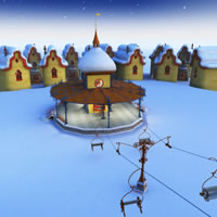 Toon Santa's Ski Lift and Ski Station