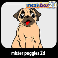 Mister Puggles 2D for Anime Studio